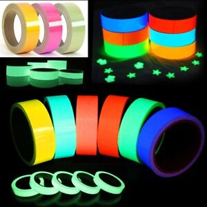 Self Adhesive Luminous New Glow In The Dark Sticky Tape Safety Film Sticker Roll