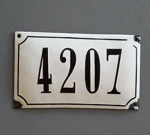 4207 Antique number sign House door plaque Black