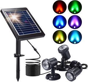 Solar Pond Lights, Ymenow 3-in-1 Set Amphibious Submersible Light Waterproof LED