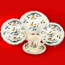 Oiseaux de Paradis by Gien 5 PIECE PLACE SETTING NEW NEVER USED Porcelain France