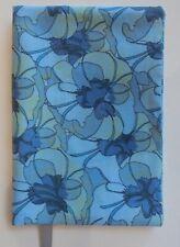 FABRIC Paperback Book Cover Standard Paperback Book Blue Flower