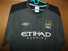 Manchester City mens football shirt Size Large Chest 40''-42'' eithad grey old