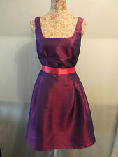 NEW WITH TAGS 2-TONE-BLUE-PURPLE TAFFETA DRESS WITH PINK BOW SIZE 10 - OOAK