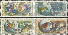 Rusia Yuri Gagarin 1976// vuelo espacial Vostok/Salyut/Soyuz/barco 4v Set (b4683)