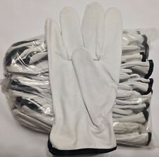 12 Pair Pack, Goat Skin Grain Leather Drivers, work safety gloves (PPE), Size  S