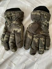 Camoflage Gloves Boys 7-10 Years Thinsulate Fleece Lined