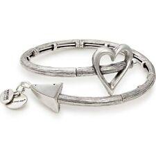 Alex and Ani V17W02RS Cupid's Arrow Wrap Rafaelian Silver Bangle Bracelet