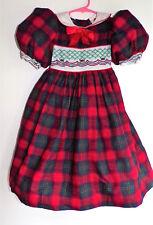 Daisy Kingdom Girls Christmas Holiday Dress Red Green Plaid Size 5 NWOT Vintage