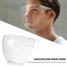 Clear Full Face Shield Guard Cover Washable Anti-Splash Safety Goggle Reusable