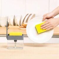 Home Clean 2 in 1 Pump Seifenspender und Schwamm Caddy für Spülmittel / Schw++