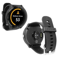 Skinomi Brushed Steel Skin+Clear Screen Protector for Garmin Vivoactive 3 Music