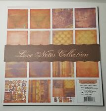 Scrapbook Paper 12x12 Cosmo Cricket Love Notes Paper Strip Tease Mini Albums