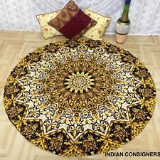 Picnic Mats Cotton Hippie Golden Design Indian Mandala Roundies Ambiance Big Art