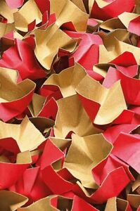 Papier-Verpackungschips rot 240 Liter 1 Karton Füllmaterial Papierpolster