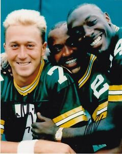 DON MAJOWSKI / STERLING SHARPE  GREEN BAY PACKERS   ACTION SIGNED 8x10