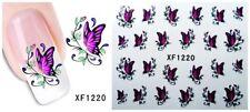 Nagelsticker Fingernägel Aufkleber Tattoo Nail Art Schmetterling XF 1220