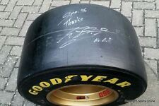 Michael Schumacher Race Worn, Signed & Inscribed Tyre - 1996 Belgium Grand Prix