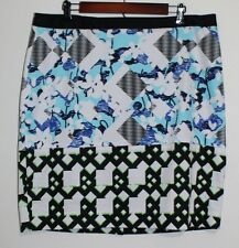 Women's Peter Pilotto For Target Multi Colored Geometric Print A Line Skirt 16