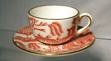 More details for coalport  miniature cup & saucer red willow