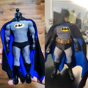 DC Animated Batman 1/12 Outfit Clothing Set Model Accessory Fit Mez. Figure