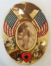 Wwi Celluloid Son-in-Service Photo in Oval Frame, Blue Star