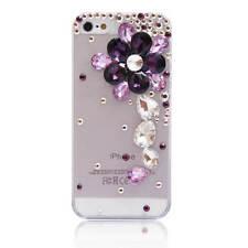 3D Luxury Bling Crystal Diamond flower Rhinestone soft gel Phone Case Cover #2