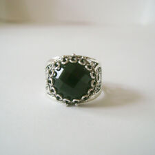 Onyx Artisan Filigree Ring Size 9 925 Sterling Silver & Faceted Black