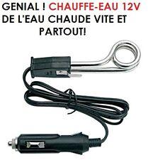 RARE INTROUVABLE! CHAUFFE EAU ELECTRIQUE 12V SUR ALLUME CIGARE! EAU CHAUDE 1MN