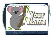 Oso Koala Personalizado señoras / chicas Denim Bolso ** gran gift/present **