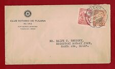 1935 Mexico Rotary Cover Mexico to California Rare