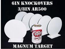 6in AR500 Knock-over Shooting Targets - 3/8 Rifle Targets - 6pc Steel Target Set