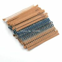 600pcs/lot 1/4w Metal Film Resistor Kit 1% Resistor Assorted Kit Set 10 Ohm-1m