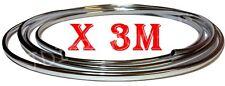 3M x Chrome U Shape Moulding Trim Strip Car Door Edge Scratch Guard Protector