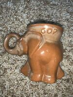 1979 Frankoma Republican GOP Elephant Political Mug Cup Brown