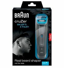 Braun cruZer 6 Cordless Beard & Head 3-in-1 Mens Wet & Dry Trimmer and Clipper