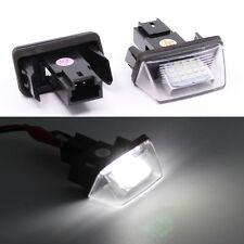 LED License Number Plate Light For Citroen C3 C4 C5 Berlingo Saxo Xsara Picasso