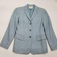 Talbots Women's Wool Silk Blend 3 Button Blazer Size 4
