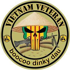 Vietnam Veteran Punisher Skull Vinyl Sticker Decal, Vietnam War Car Truck window