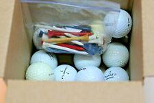 Lot of 14 Golf Balls & 25 Golf Tees Maxfli, Ultra, Titleist, Top Flight Used