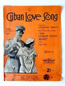 """Cuban Love Song Lawence Tibbett - """"The Cuban Love Song"""" Sheet Music"""