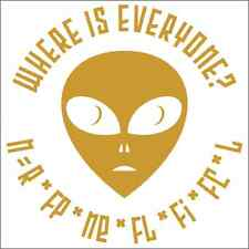Where Is Everyone? Drake Equation Alien Vinyl Decal / Sticker 2(TWO) Pack