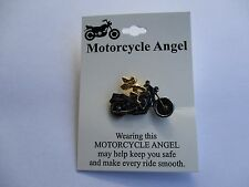 Motorcycle guardian Angel Top Quality Lapel Pin Badge - Lady biker sports vest
