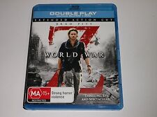 BLU-RAY :  WORLD WAR Z - extended action cut  /  WORLD WAR Z - MA15+ EDITION