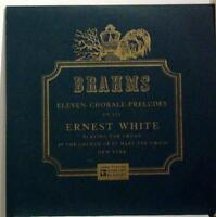 ERNEST WHITE brahms eleven chorale preludes LP VG+ MG 10070 Vinyl  Record