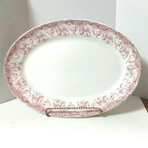Vtg Platter Serving Tray John Maddock & Sons Eng Royal Vitreous Seville #250118