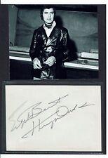 Engelbert Humperdinck Pop Singer Hand signed page laid to card under photo 8 x 6