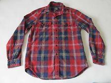 J.Crew Men's Flannel Classic Plaid Herringbone Long Sleeve Button Down Shirt SM