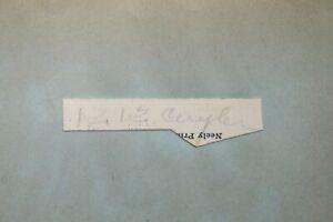 KiKi Cuyler (d.1950) Pirates Cub HOF Signed Autograph Mounted Cut Album Page JSA