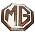 MG TA TB TC TD Radiator Grille Medailon MG logo Brown/Cream 1936-53 Part no E103