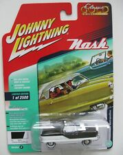 1958 Nash Metropolitan  Black /White *RR* Johnny Lightning Auto World 1:64 RAR